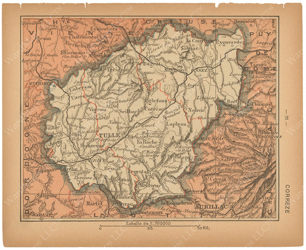 France Departments 1888: Correze