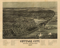Cottage City (Oak Bluffs), Massachusetts 1890