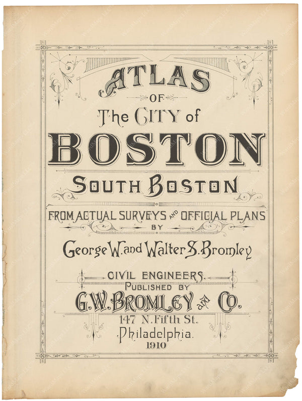 South Boston, Massachusetts 1910 Title Page