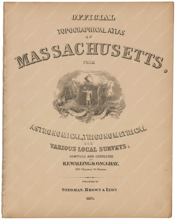 Massachusetts 1871 Title Page