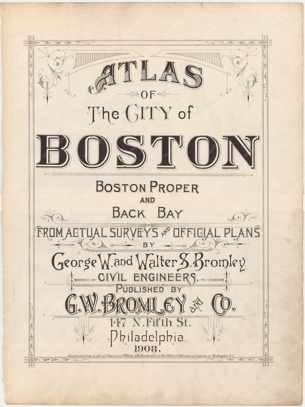 Boston, Massachusetts 1908 Title Page