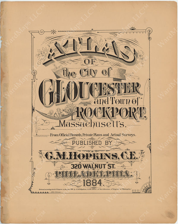 Gloucester and Rockport, Massachusetts 1884 Title Page