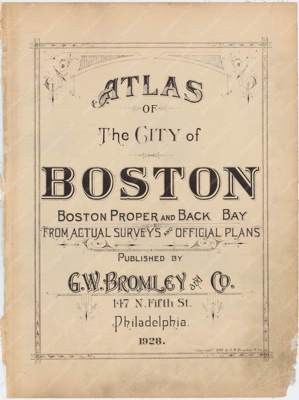 Boston, Massachusetts 1928 Title Page