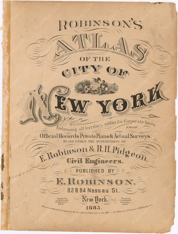 New York City 1885 Title Page