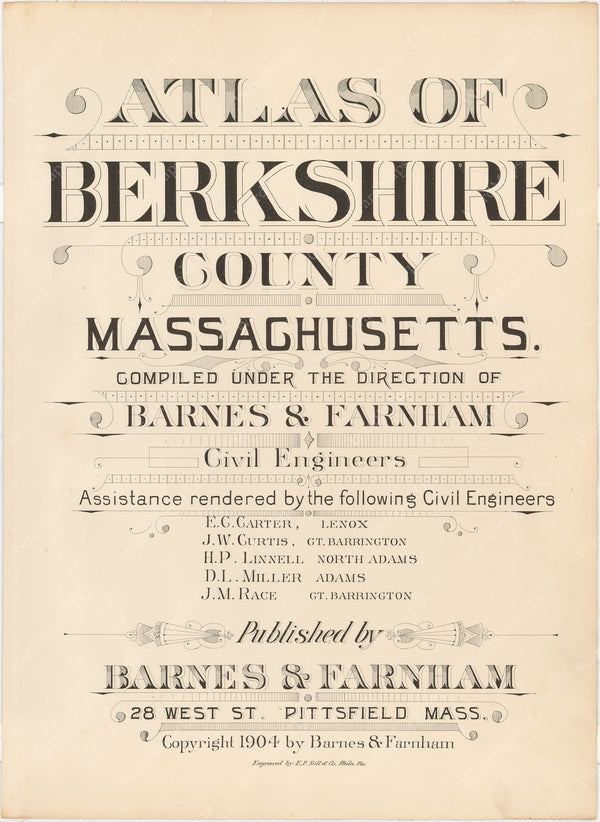 Berkshire County, Massachusetts 1904 Title Page