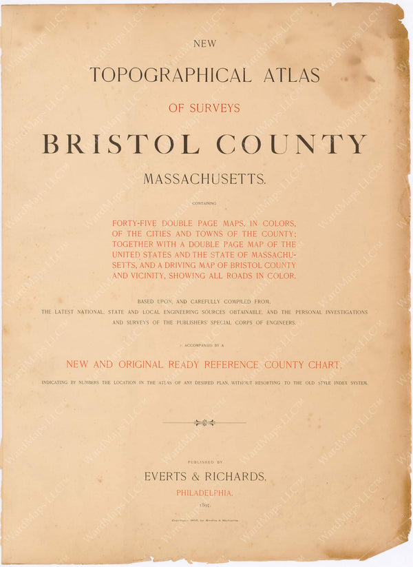Bristol County, Massachusetts 1895 Title Page