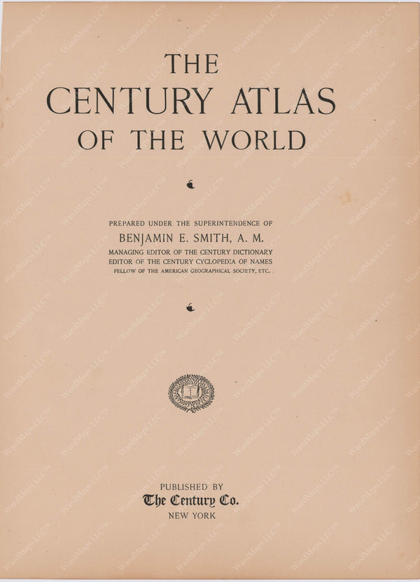Century Atlas of The World 1897 Cover Page
