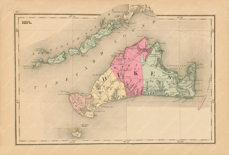 Martha's Vineyard, Massachusetts 1871