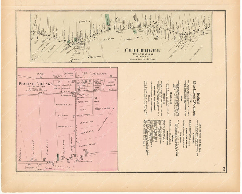 Southport: Cutchogue and Peconic Village, New York 1873