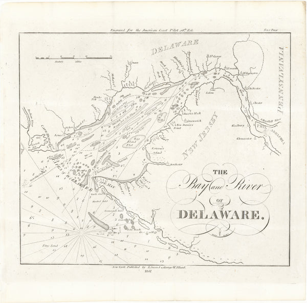 Delaware Bay and River in Delaware, New Jersey and Pennsylvania 1841