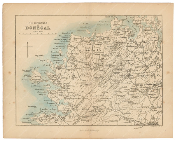Highlands of Donegal, Ireland 1876