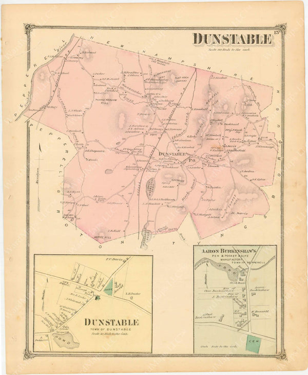 Dunstable, Massachusetts 1875