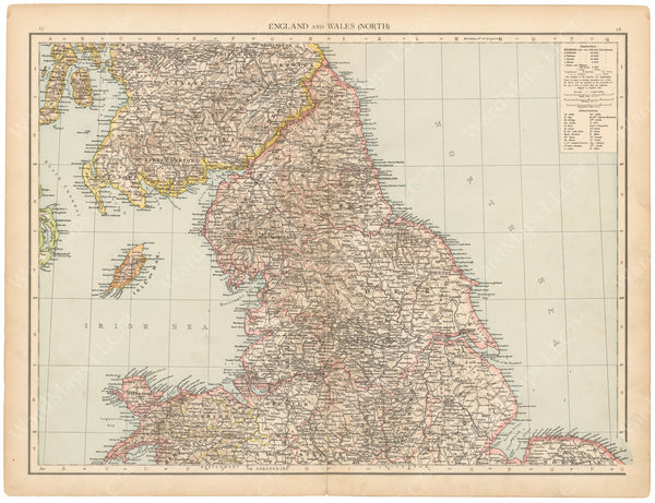 England and Wales 1895: Northern Part