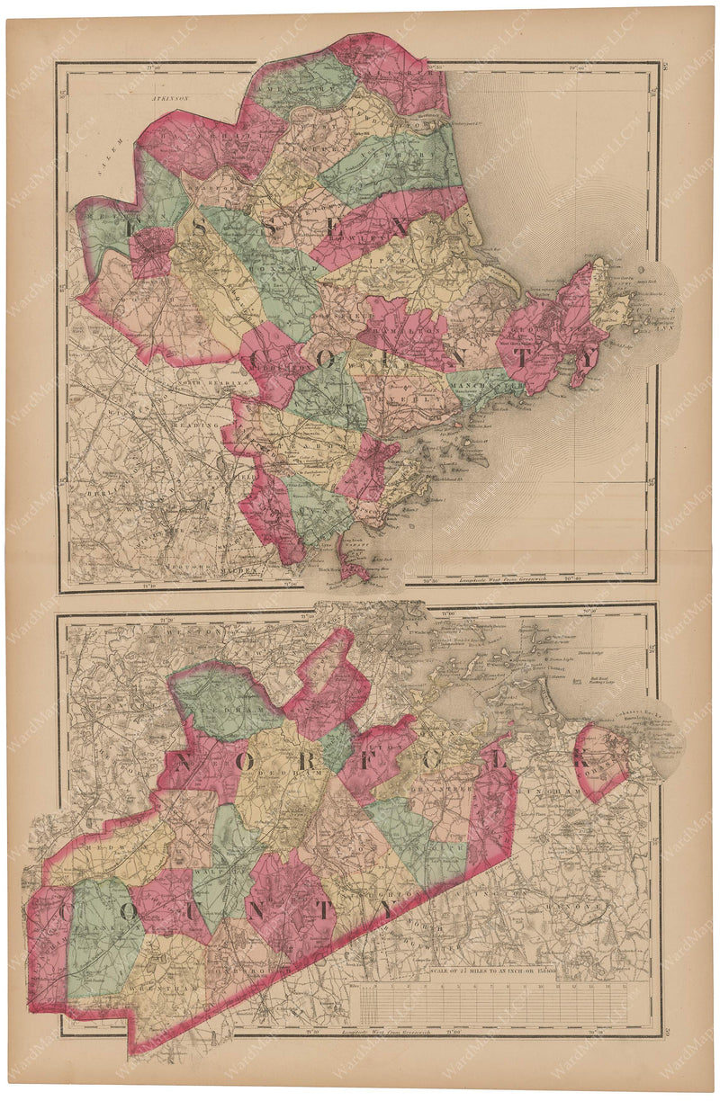 Essex and Norfolk Counties, Massachusetts 1871