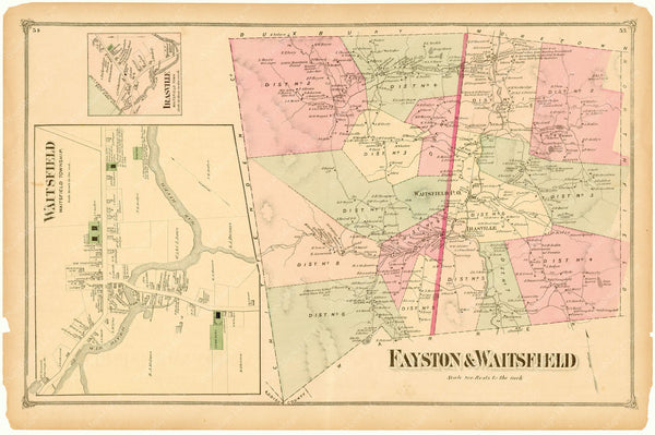 Fayston and Waitsfield, Vermont 1873