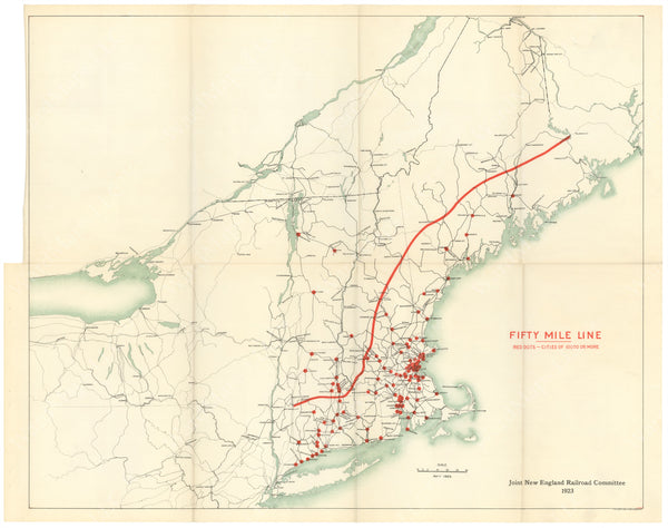 Joint New England Railroad Committee 1923: Fifty Mile Line