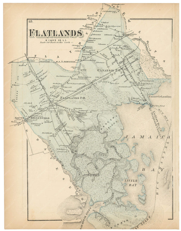 Flat Lands, New York 1873
