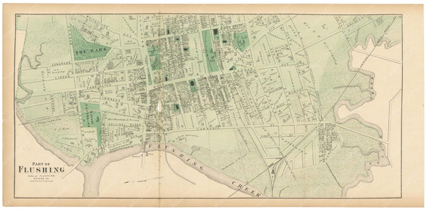 Flushing: Flushing Village West, New York 1873