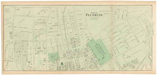 Flushing: Flushing Village East, New York 1873