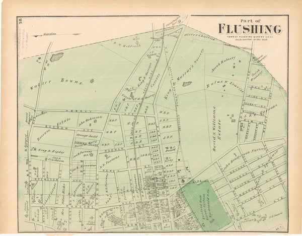 Flushing Part, New York 1873