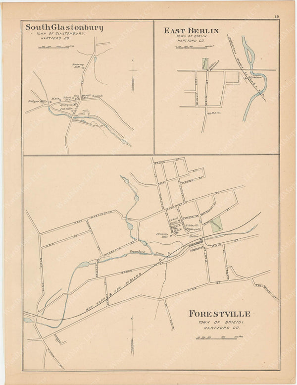 Berlin, Bristol, and Glastonbury, Connecticut 1893