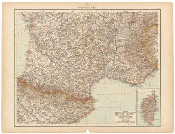 France 1895: Southern Part and Corsica