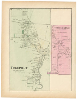 Hempstead: Freeport and Greenwich Point, New York 1873