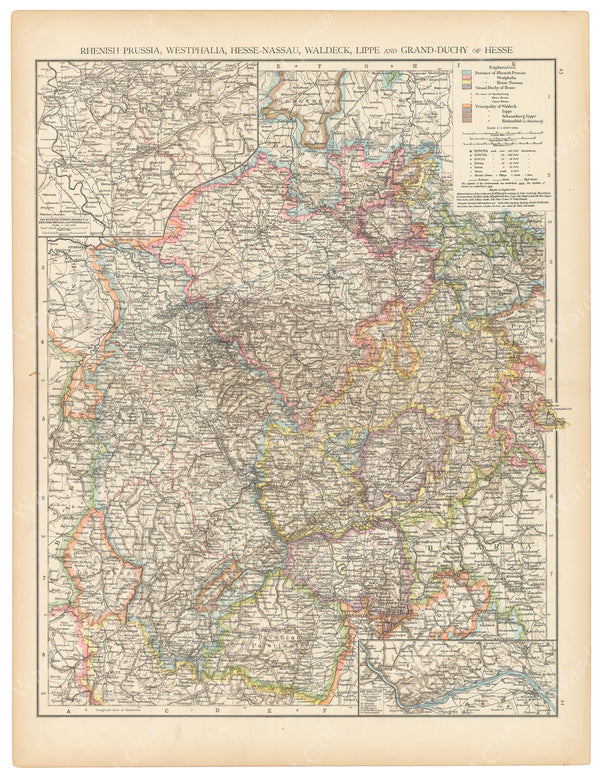 Germany 1895: Northwest Part