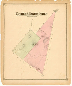 Goshen and Harris Gores, Vermont 1873
