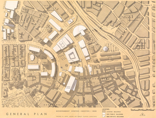 Boston, Massachusetts 1959: Government Center Plan