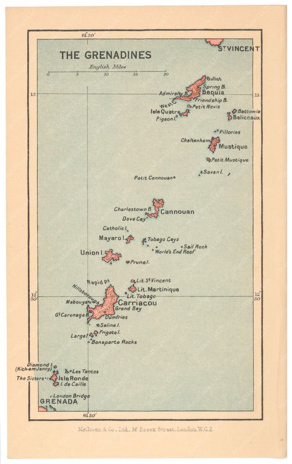 The Grenadines 1939