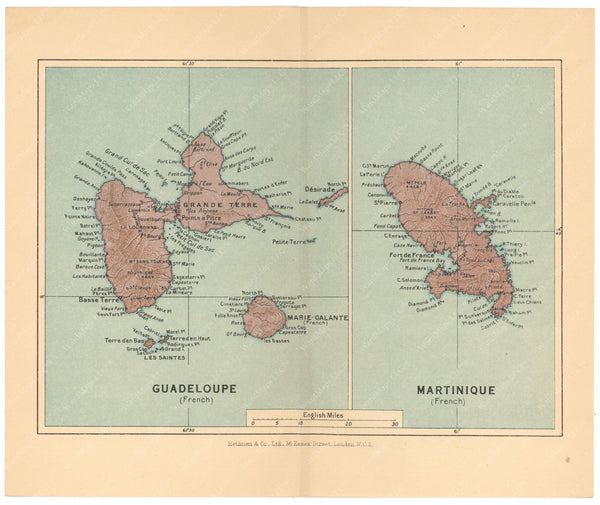 Guadeloupe and Martinique 1939