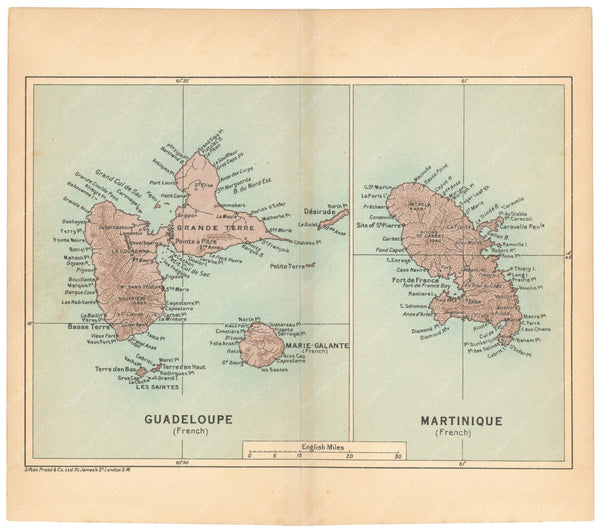 Guadeloupe and Martinique 1927