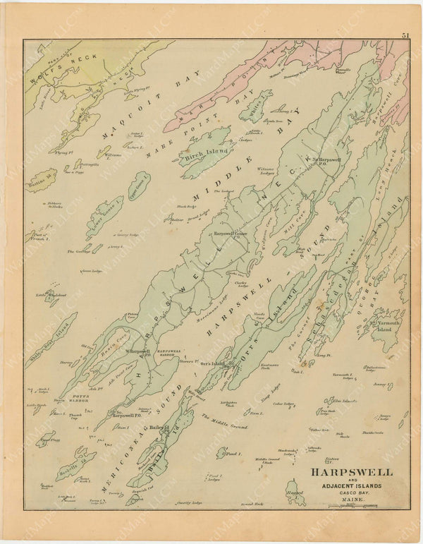 Harpswell and Adjacent Islands, Maine 1894-95