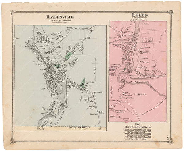 Northampton and Williamsburgh, Massachusetts 1873