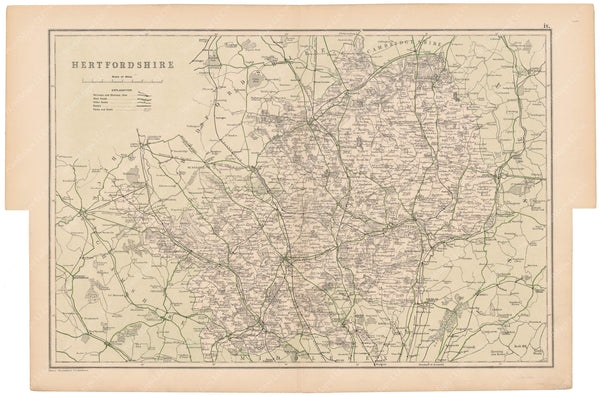 London, England and Suburbs 1910: Hertfordshire County
