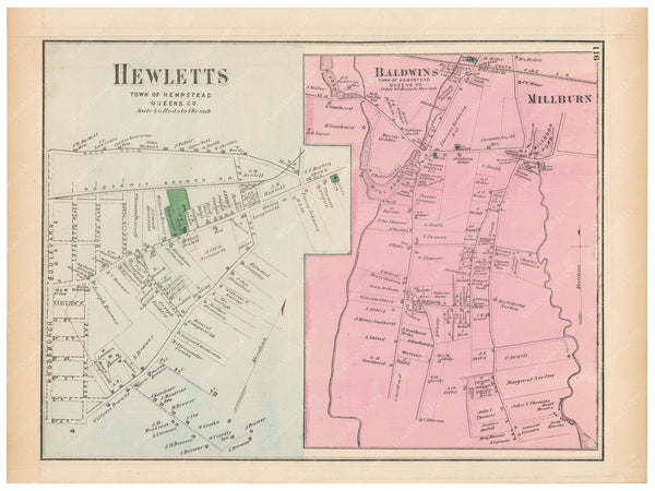 Hempstead: Baldwins, Hewletts, and Millburn, New York 1873