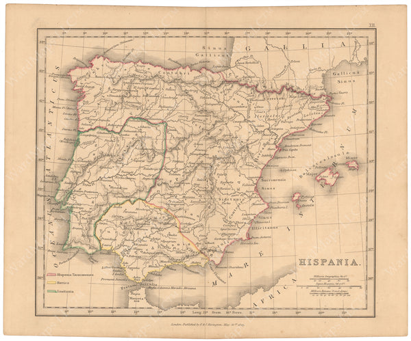 Classical Atlas 1849: Hispania
