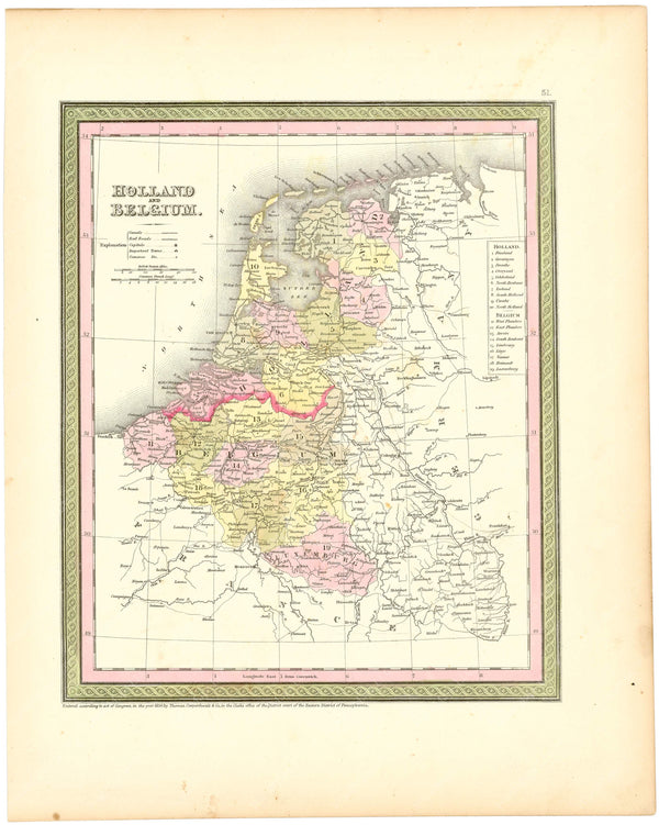 Belgium and Holland (Netherlands) 1854