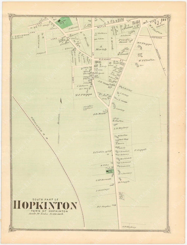 Hopkinton Center, Massachusetts 1875