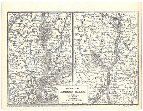 New York Railroads 1848: Greater New York City and Hudson River