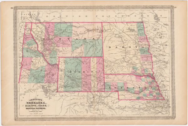 Idaho, Montana, Nebraska, North Dakota, South Dakota, and Wyoming 1873