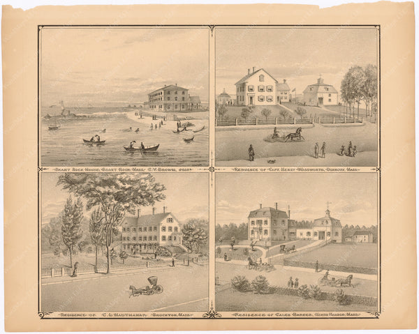 Brockton, Duxbury, Hanson, and Marshfield, Massachusetts 1879