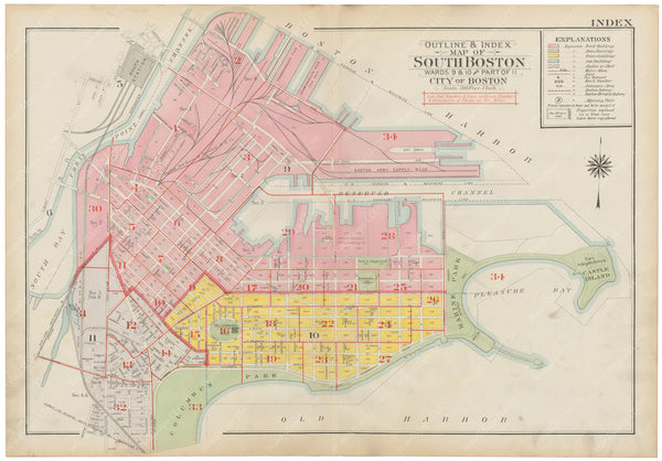 South Boston, Massachusetts 1919 Index Map