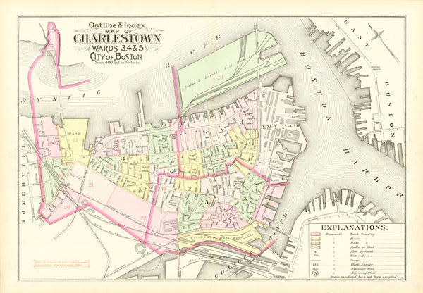 Charlestown, Massachusetts 1892 Index Map