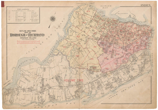 Staten Island, New York 1917 Vol. 1: Index Map