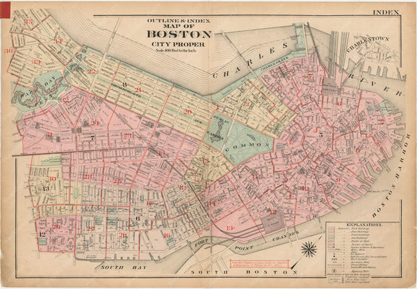 Boston, Massachusetts 1922 Index Plate