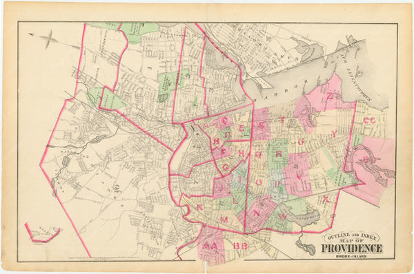 Providence, Rhode Island, Vol. 2, 1875 Index Map