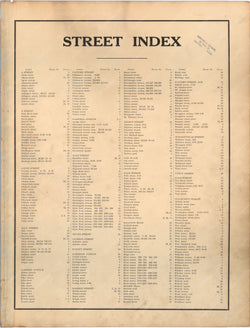 Hyde Park, Massachusetts 1912 Street Index