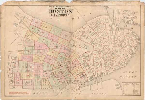 Boston, Massachusetts 1888 Vol. 2 Index Plate